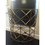 Image of Gold Handforged Iron Geometric Console Table