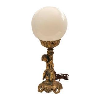 Art Nouveau Style Globe Lamp by Loevsky & Loevsky