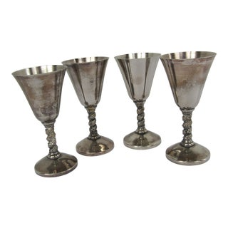 Silverplate Wine Glasses - Set of 4