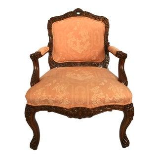 Carved Walnut Louis XVI Arm Chair