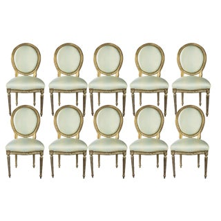 Louis XVI Dining Chairs - Set of 10