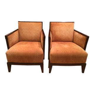 Nancy Corzine Art Deco Style Designer Club Chairs - A Pair