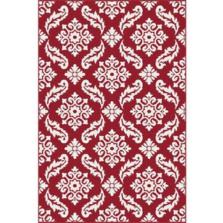 Transitional Red Vine Pattern Rug 6'8''x 9'8''