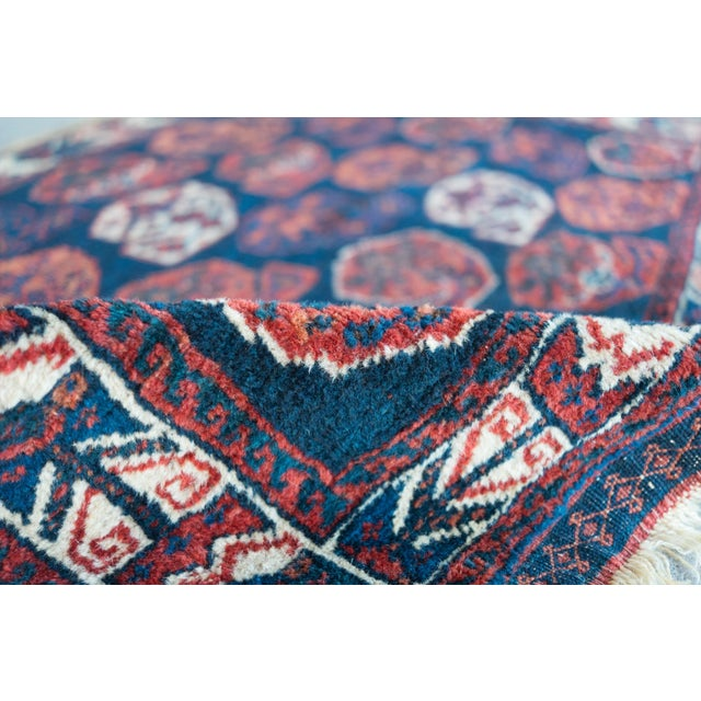 "Antique Perisan Mat Small Rug - 2'x3'2"" - Image 4 of 5"
