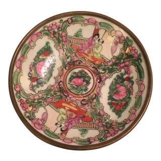 Asian Porcelain Bowl With Brass Bottom