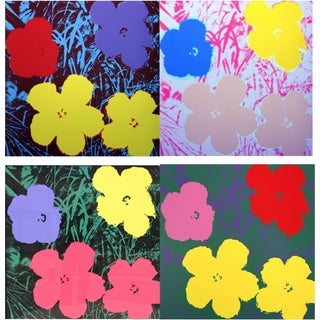 "Andy Warhol ""Flowers,"" Sunday B Morning Edition - Set of 4"