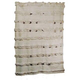 Moroccan Handira Wedding Blanket - 4′3″ × 5′8″
