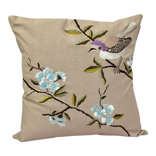 Silk Thread Embroidered Pillow