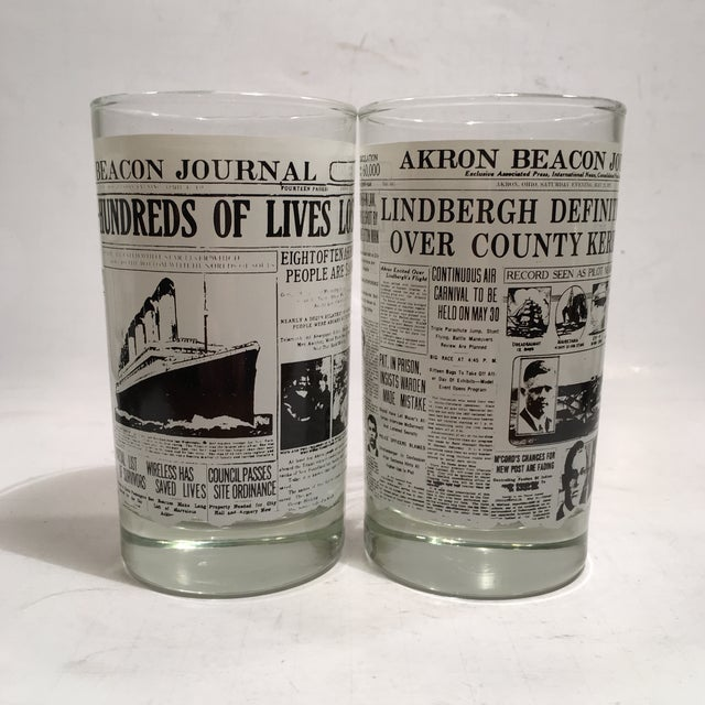 Libbey Newspaper Headline Tumblers - Set of 6 - Image 4 of 6