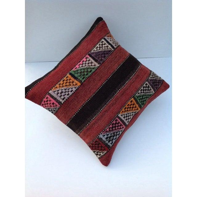 Turkish Kilim Pillow - Image 4 of 5