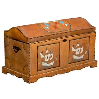 Spanish Revival Leather Trunk