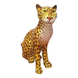 Mid-Century Italian Pottery Cheetah