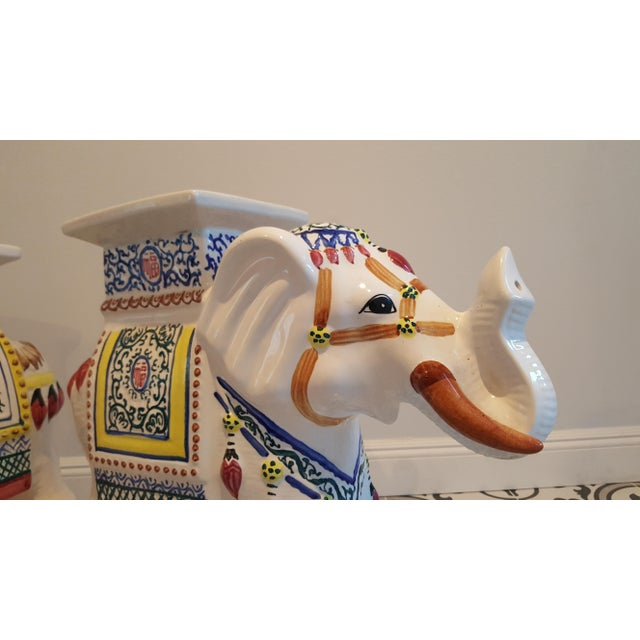 Ceramic Elephant Side Tables - A Pair - Image 5 of 11