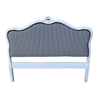 Stripe Upholstered Full Size Headboard