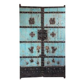 Vintage Mongolian Turqouise Elm Door