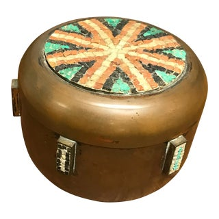 Copper and Mosaic Jar