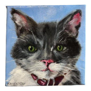 Meow MIX II Oil on Canvas Painting