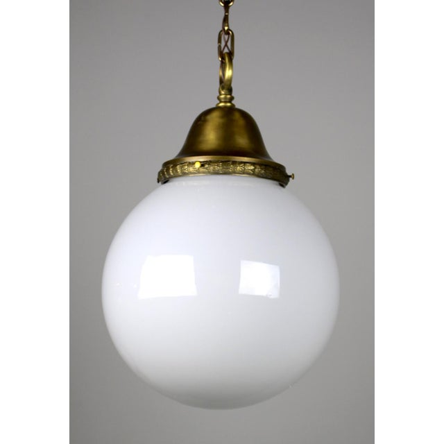 Pendant Fixture with Ball Shade - Image 5 of 6