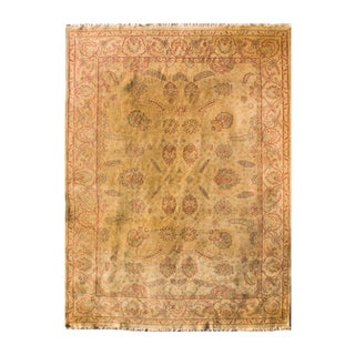 Vintage Hand-Knotted Rug - 10′ × 14′