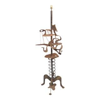 Brutalist Silas Seandel Style Floor Lamp