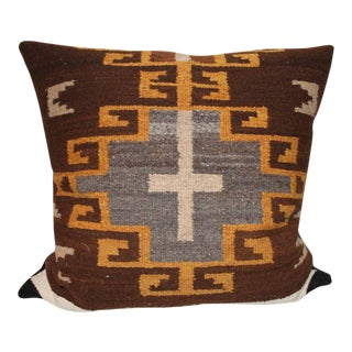 Rare Early Navajo Saddle Blanket Pillow