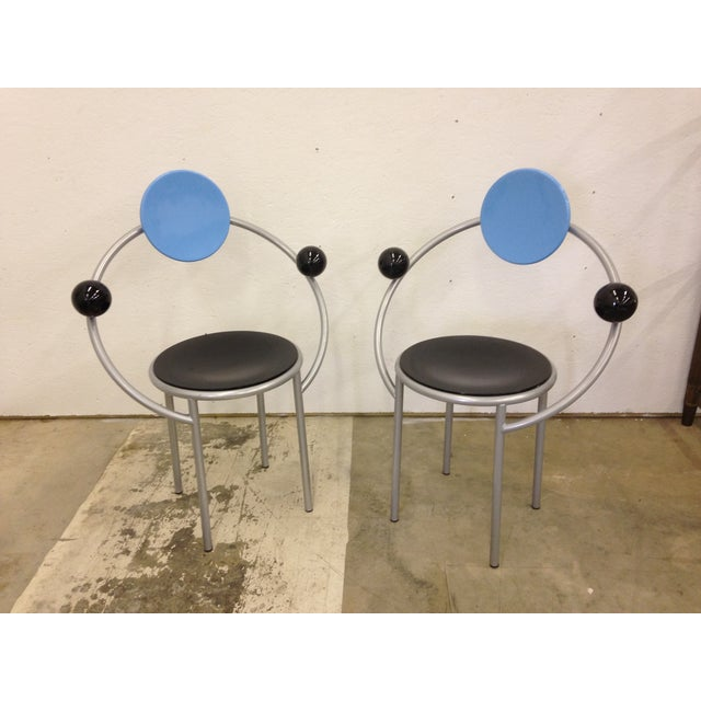 Michele De Lucchi Memphis First Chairs - Pair - Image 7 of 9