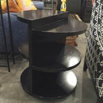 Image of Black Multi-Tiered Accent Table