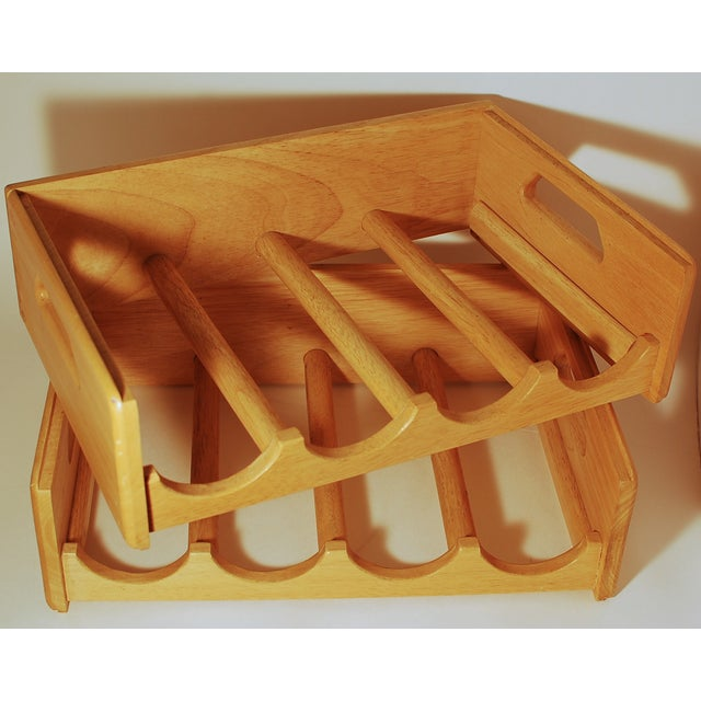 Maple Nesting Wine Carriers - A Pair - Image 6 of 6