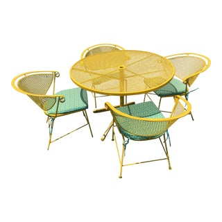 Mid Century Modern Yellow Patio Set