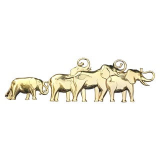 Syroco Gold Lucky Elephant Wall Hanging