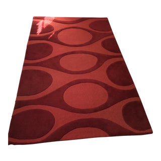 Angela Adams Red Wool Rug - 5' X 8'