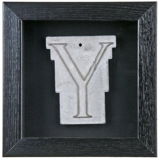 Framed Mid Century Spacerite Steel Letter Y