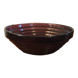 Purple Blenko Serving Bowl