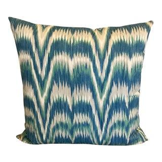 Accent Pillow in Aegean Kamalia Ikat for Schumacher