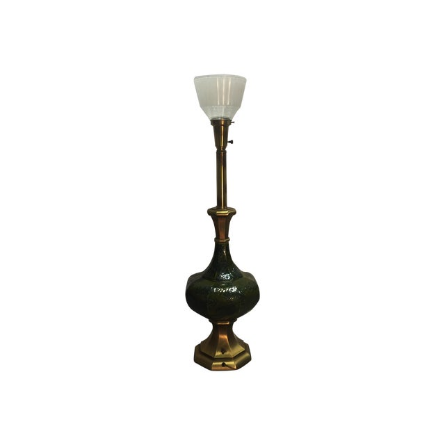 Mcm Rembrandt Brass Lava Style Ceramic Lamp Chairish