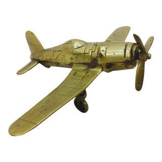 Vintage Brass Airplane