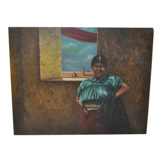 Carlo Wahlbeck Native American Surrealist Oil Painting