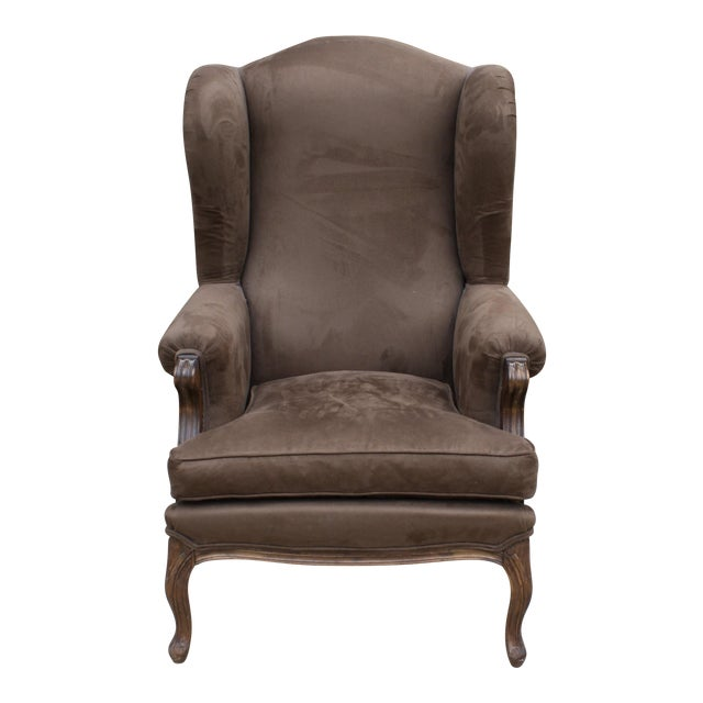 French Style Wingback Chair - Image 1 of 5