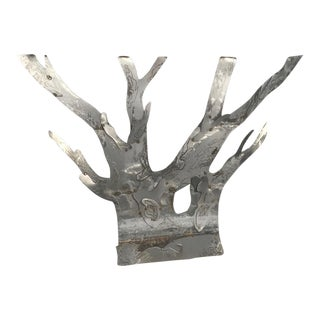 Brutalist Outdoor/Indoor Metal Tree Sculpture