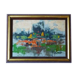 Small Abstract Cityscape Painting