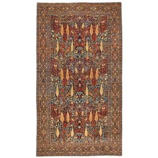 Exceptional Rare Antique Oversize Mohtasham Kashan Carpet
