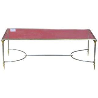 Jansen Style Glasstop Coffee Table