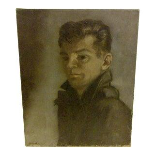 """Self Portrait"" Original Painting by F. McDuff"