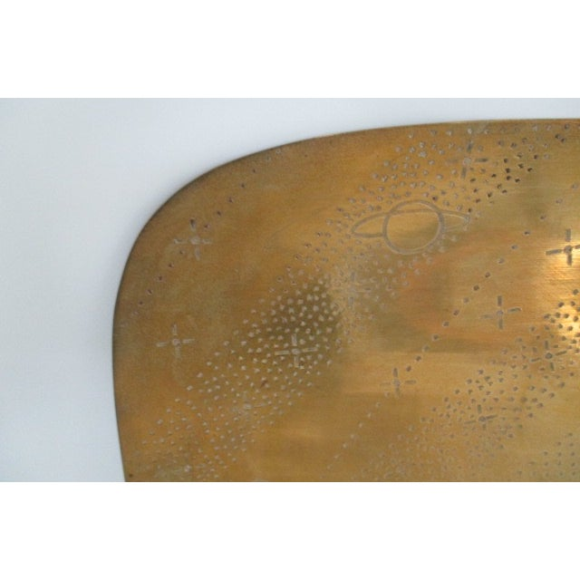 Image of Vintage Brass Planets and Stars Tray