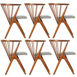 1960s Vintage Helge Sibast No. 8 Dining Chairs - Set of 6