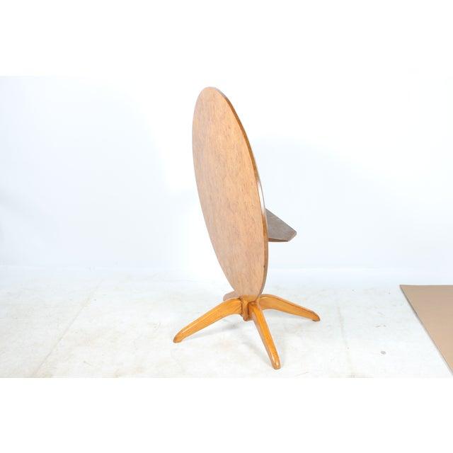 Burl Wood Tilt Top Table - Image 3 of 5