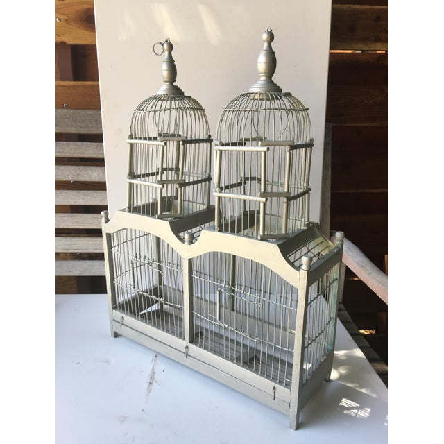 Summer Shimmer Wood Bird Cage - Image 2 of 4