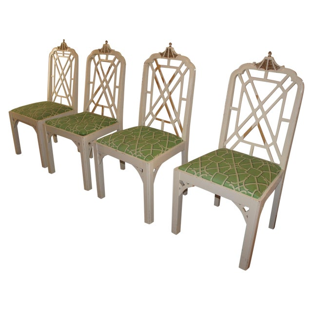 Pagoda Dining Chairs - Set of 4 - Image 1 of 9