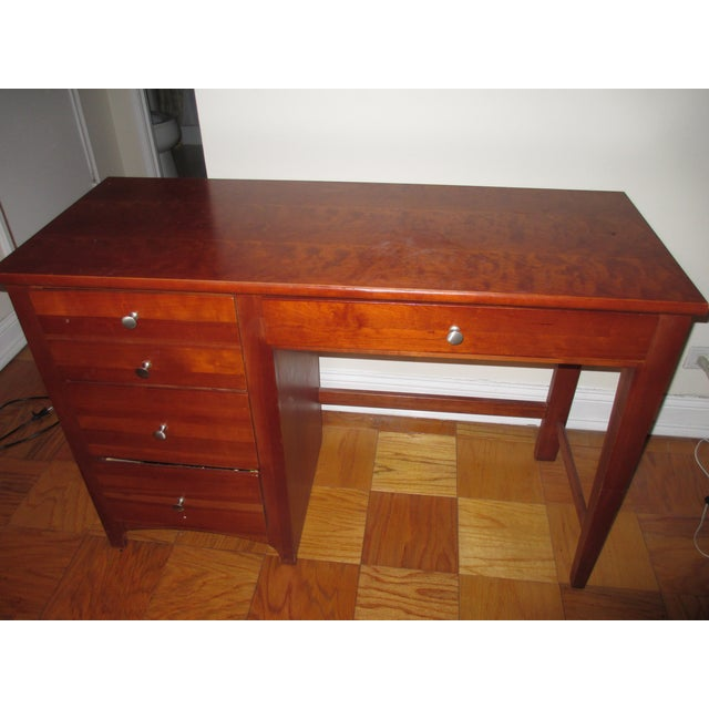 Image of Stanley Desk with Brown Finish and Cherry Coloring