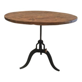 English Industrial Crank Pine Table